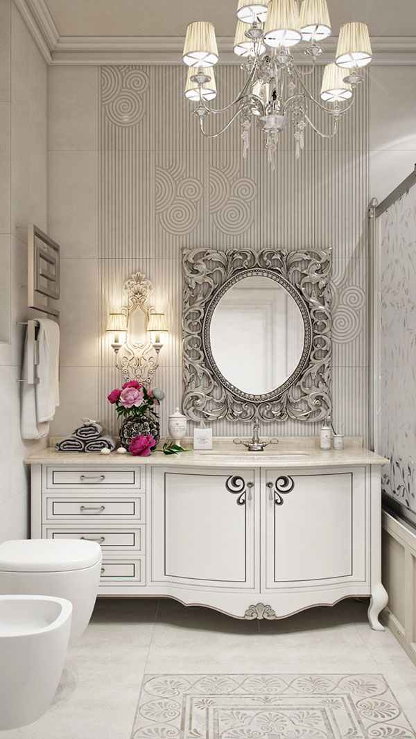 Neoclassical Bathroom by Olesya Ligay