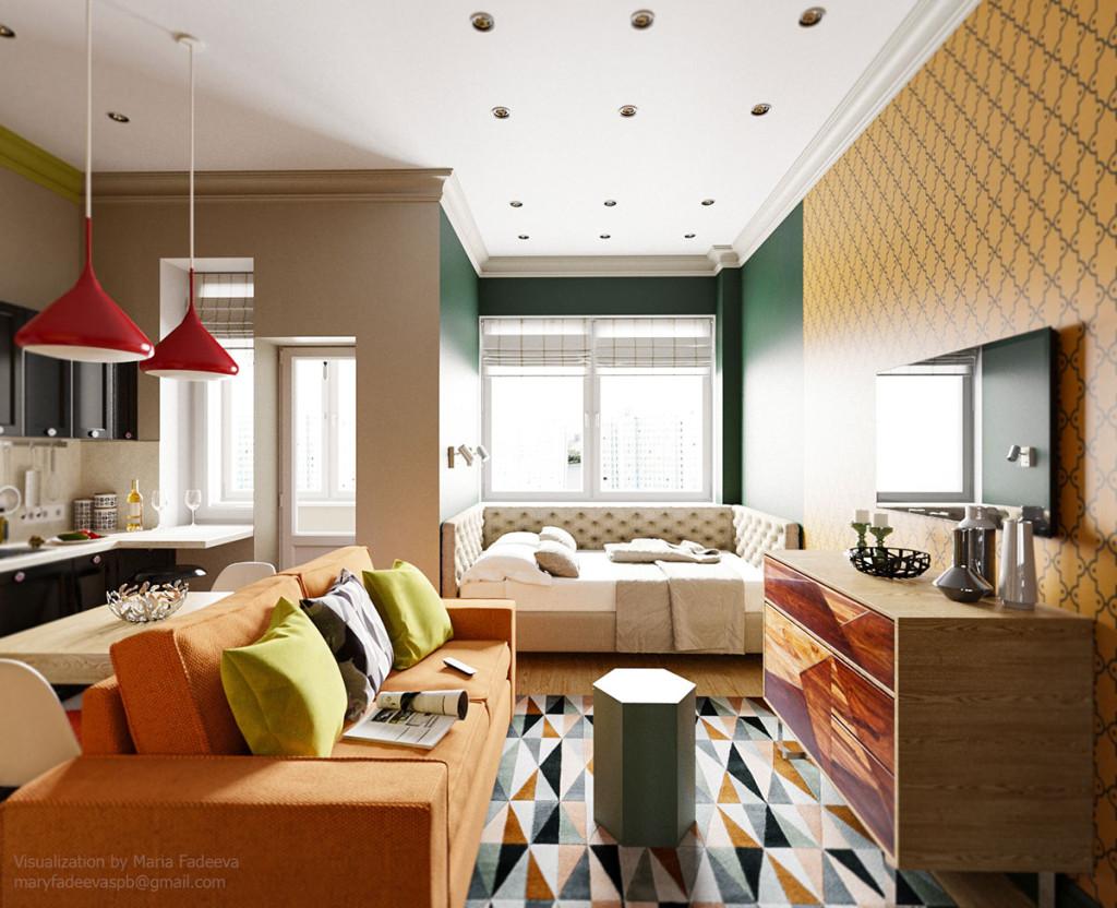 Apartment Studio by Maria Fadeeva
