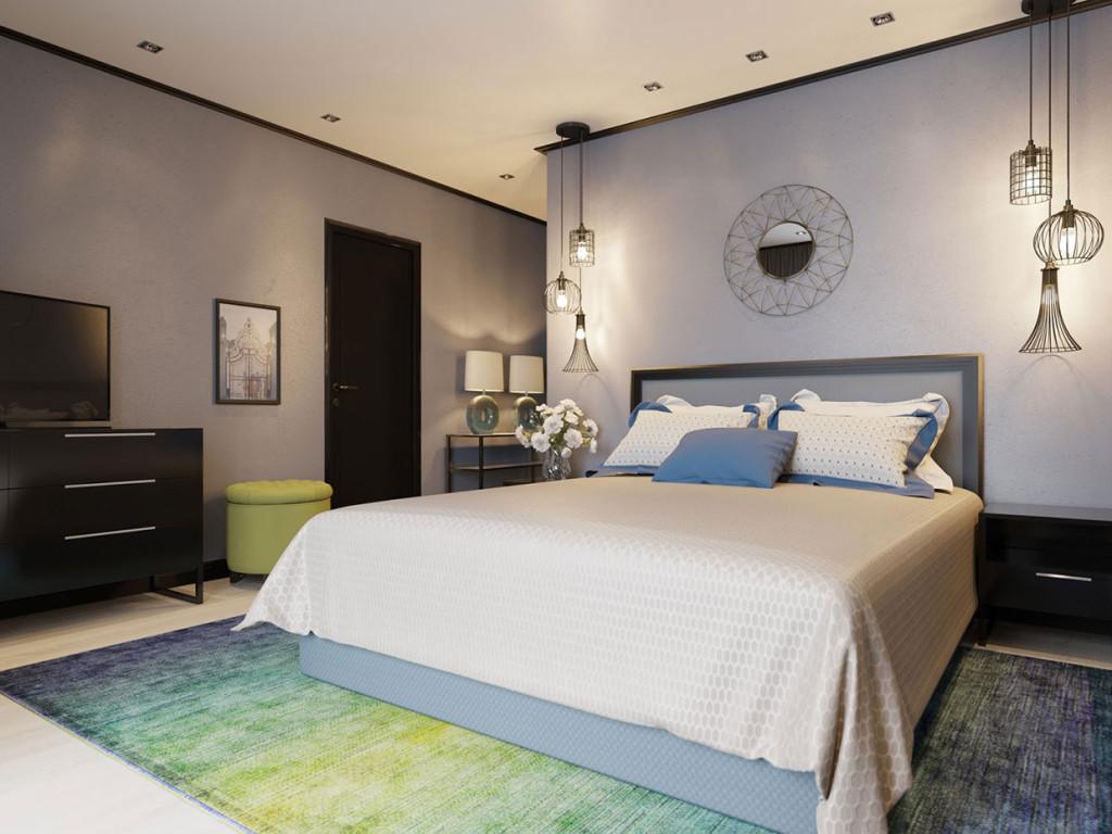 Bedroom in blue by Maria Fadeeva