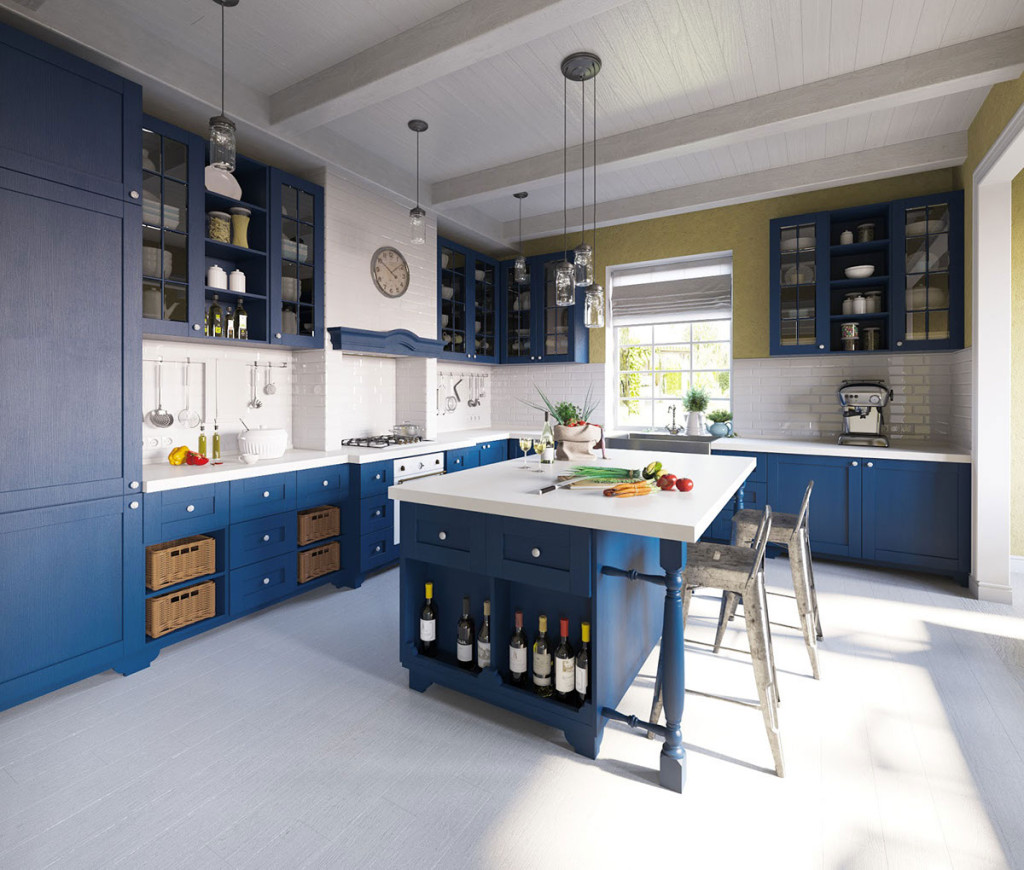 Blue Kitchen by Maria Fadeeva
