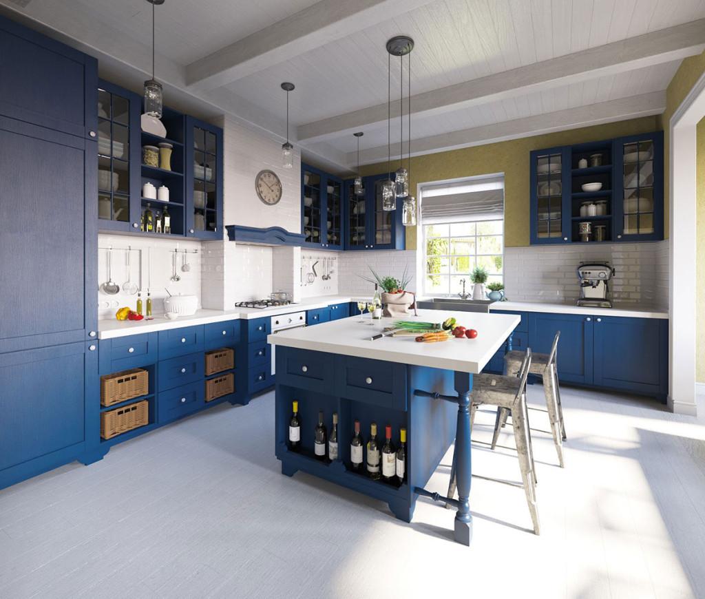 Blue Kitchen by Maria Fadeeva