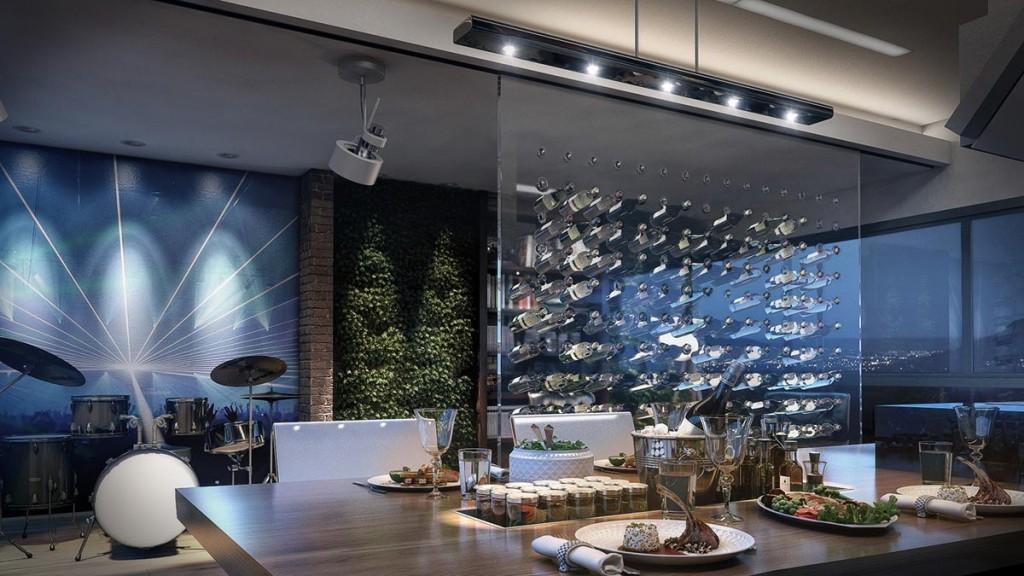 Living room for Alex Atala by Felipe Walter