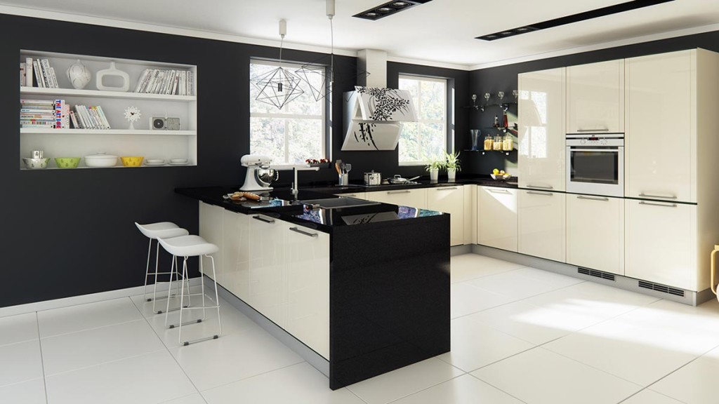 Aluminium-made kitchen by Mark Lester